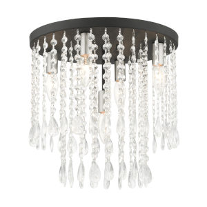 Elizabeth Black Five-Light Flush Mount