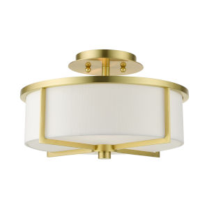 Wesley Satin Brass Two-Light Semi-Flush Mount