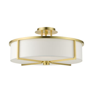 Wesley Satin Brass Four-Light Semi-Flush Mount