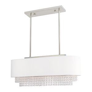 Carlisle Brushed Nickel Three-Light Linear Chandelier