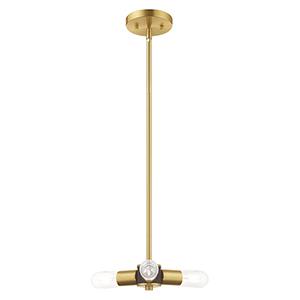 Copenhagen Satin Brass 13-Inch Three-Light Mini Chandelier
