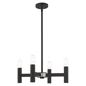 Copenhagen Black 20-Inch Four-Light Mini Chandelier