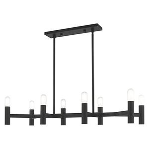 Copenhagen Black 15-Inch Eight-Light Linear Chandelier