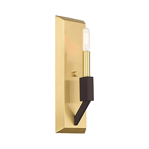 Beckett Satin Brass and Bronze Wall Sconce
