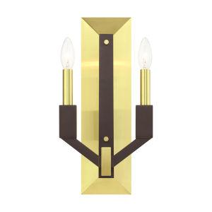 Beckett Satin Brass  Two-Light ADA Wall Sconce