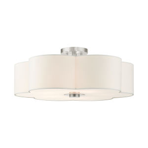 Chelsea Brushed Nickel Five-Light Semi-Flush Mount