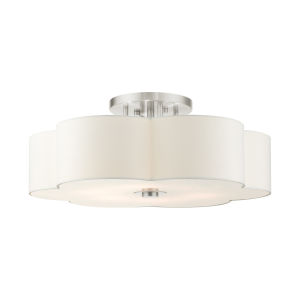 Chelsea Brushed Nickel Six-Light Semi-Flush Mount