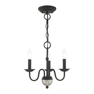 Windsor Black Three-Light Mini Chandelier