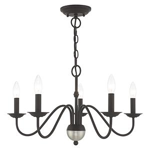 Windsor Black Five-Light Chandelier