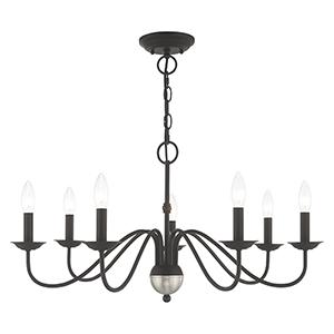 Windsor Black Seven-Light Chandelier
