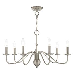 Windsor Brushed Nickel Seven-Light Chandelier