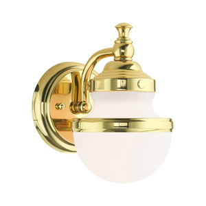 Oldwick Polished Brass One-Light Wall Sconce
