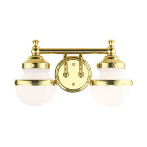 Oldwick Polished Brass Two-Light Bath Vanity