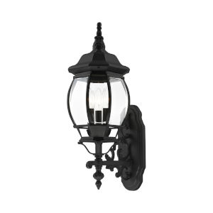 Frontenac Textured Black 22-Inch Three-Light Outdoor Wall Sconce
