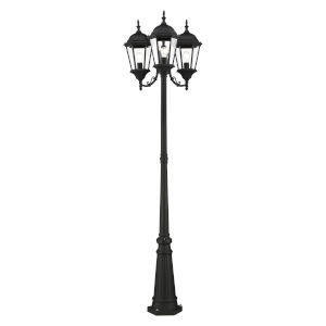 Hamilton Textured Black 25-Inch Three-Light Outdoor Post Lantern