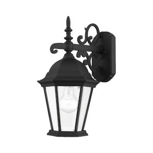 Hamilton Textured Black 15-Inch One-Light Outdoor Wall Sconce
