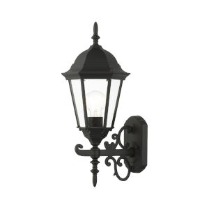 Hamilton Textured Black 20-Inch One-Light Outdoor Wall Sconce