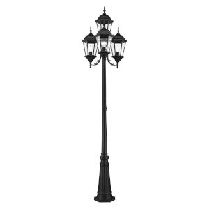 Hamilton Textured Black Four-Light Outdoor Post Lantern