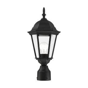 Hamilton Textured Black One-Light Outdoor Post Lantern