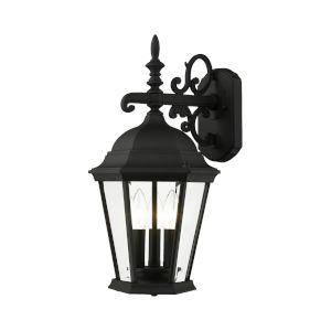 Hamilton Textured Black Three-Light Outdoor Wall Lantern