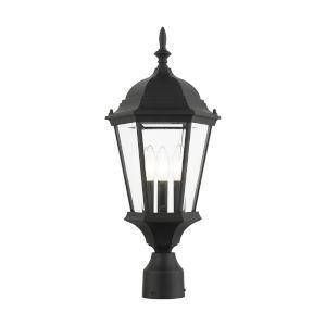 Hamilton Textured Black 10-Inch Three-Light Outdoor Post Lantern