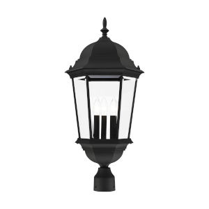 Hamilton Textured Black 13-Inch Three-Light Outdoor Post Lantern