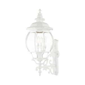 Frontenac Textured White Four-Light Outdoor Wall Sconce