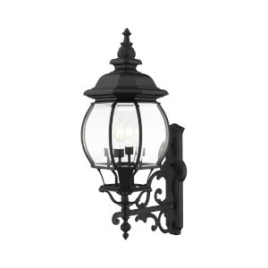 Frontenac Textured Black Four-Light Outdoor Wall Sconce