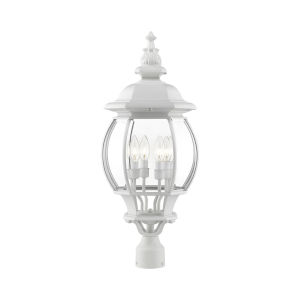 Frontenac Textured White 12-Inch Four-Light Outdoor Post Lantern