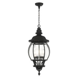 Frontenac Textured Black Four-Light Outdoor Pendant