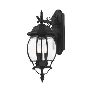Frontenac Textured Black 21-Inch Three-Light Outdoor Wall Sconce