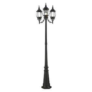 Frontenac Textured Black 24-Inch Three-Light Outdoor Post Lantern