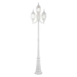 Frontenac Textured White 24-Inch Four-Light Outdoor Post Lantern