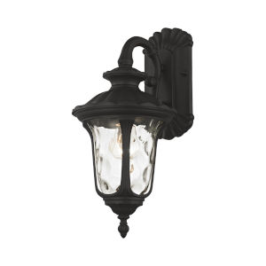 Oxford Textured Black Seven-Inch One-Light Outdoor Down Light Wall Lantern