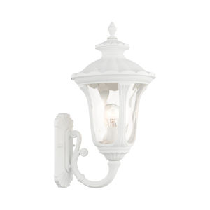 Oxford Textured White 10-Inch One-Light Outdoor Wall Lantern
