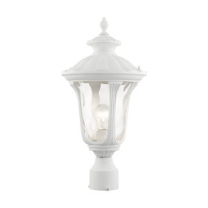 Oxford Textured White One-Light Outdoor Post Lantern