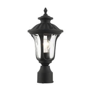 Oxford Textured Black 10-Inch One-Light Outdoor Post Lantern