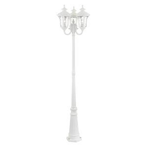 Oxford Textured White 23-Inch Three-Light Outdoor Post Lantern