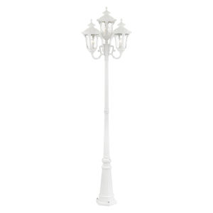 Oxford Textured White Four-Light Outdoor Post Lantern