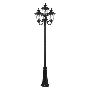 Oxford Textured Black Four-Light Outdoor Post Lantern