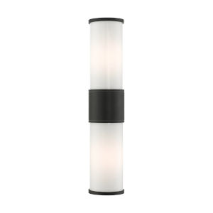 Landsdale Textured Black Two-Light Outdoor Wall Lantern