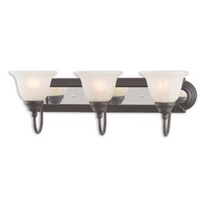 Belmont Bronze and Chrome Three-Light 24-Inch Bath Vanity