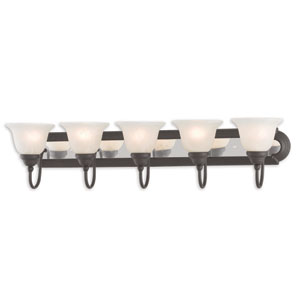 Belmont Bronze and Chrome Five-Light 36-Inch Bath Vanity