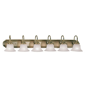 Belmont Antique Brass Six-Light Bath Fixture
