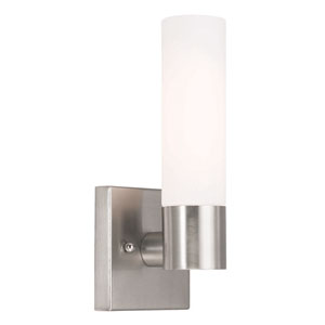 Aero Brushed Nickel 4.5-Inch One-Light Tall Bath Sconce