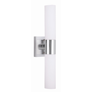 Aero Chrome 4.5-Inch Two-Light Bath Fixture