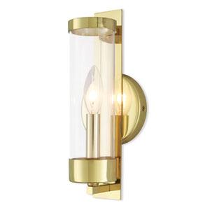 Castleton Polished Brass One-Light Wall Sconce