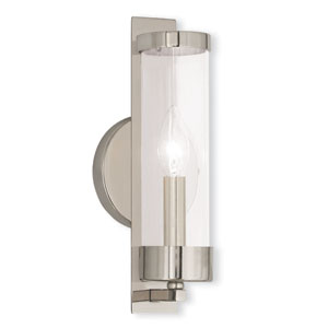 Castleton Polished Nickel 5-Inch One-Light Bath Sconce