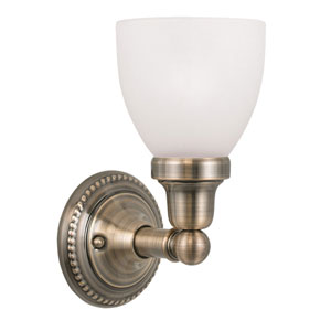 Classic Antique Brass One Light Bath Light