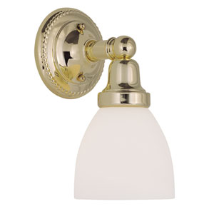Classic Polished Brass One-Light Bath Fixture